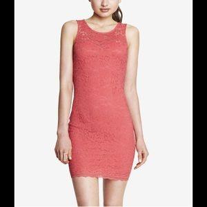 Express Pink Lace Sleeveless Open Back Dress NWT